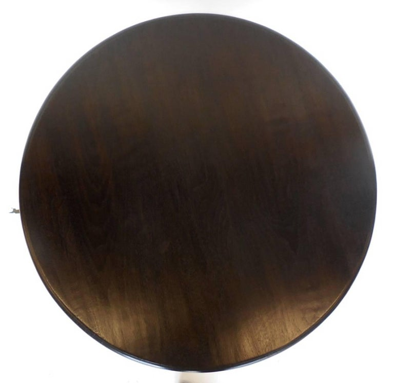 Modern Custom Walnut Beehive Pedestal Side Table in Ebony Finish For Sale