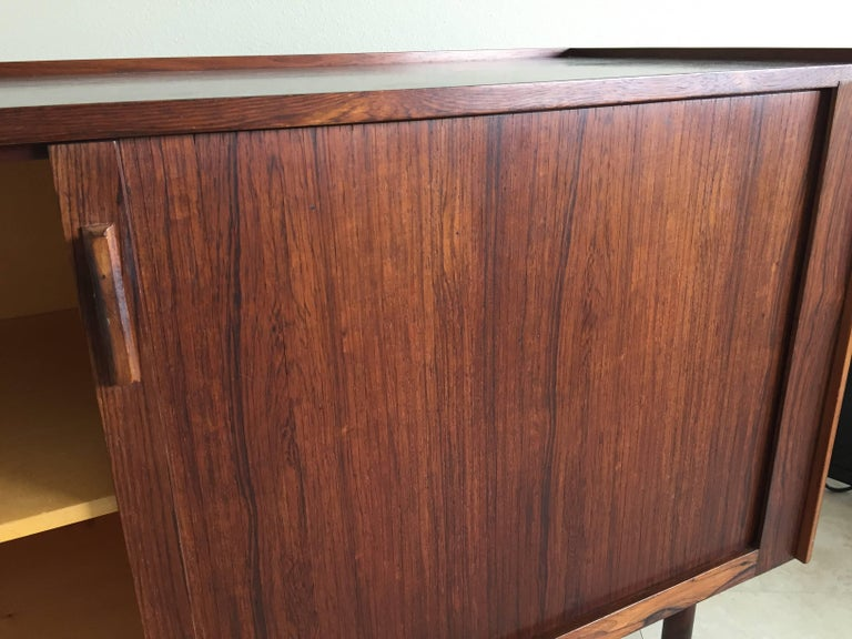 Stained Midcentury Rosewood Bar/Sideboard in the Style of Arne Vodder For Sale