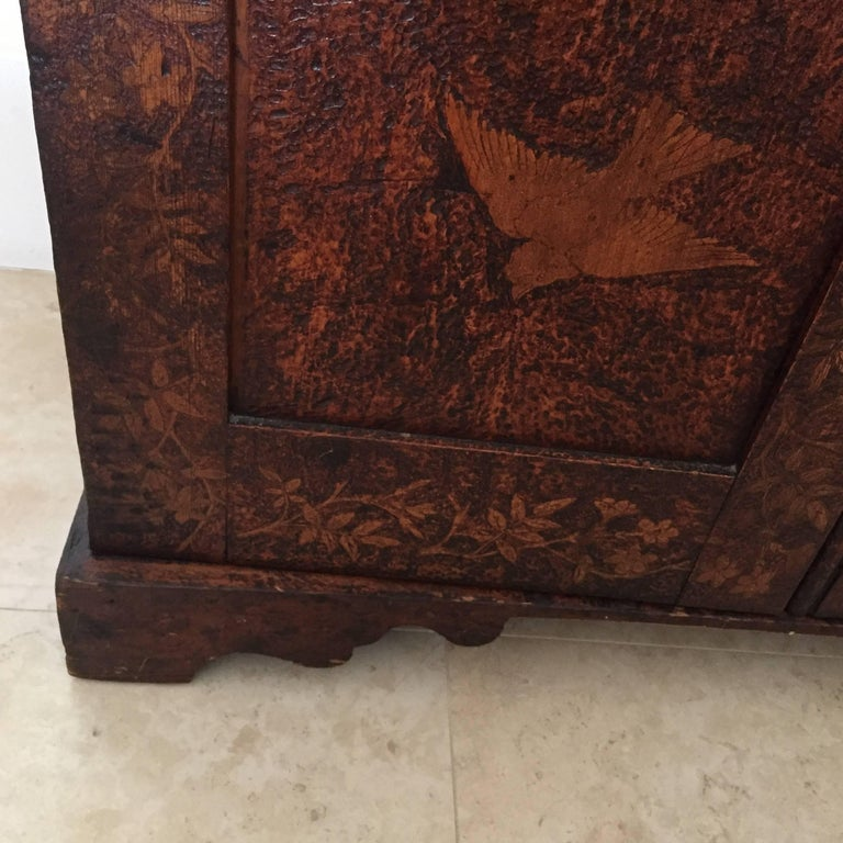 19th Century Arts & Crafts Poker Cabinet For Sale 3