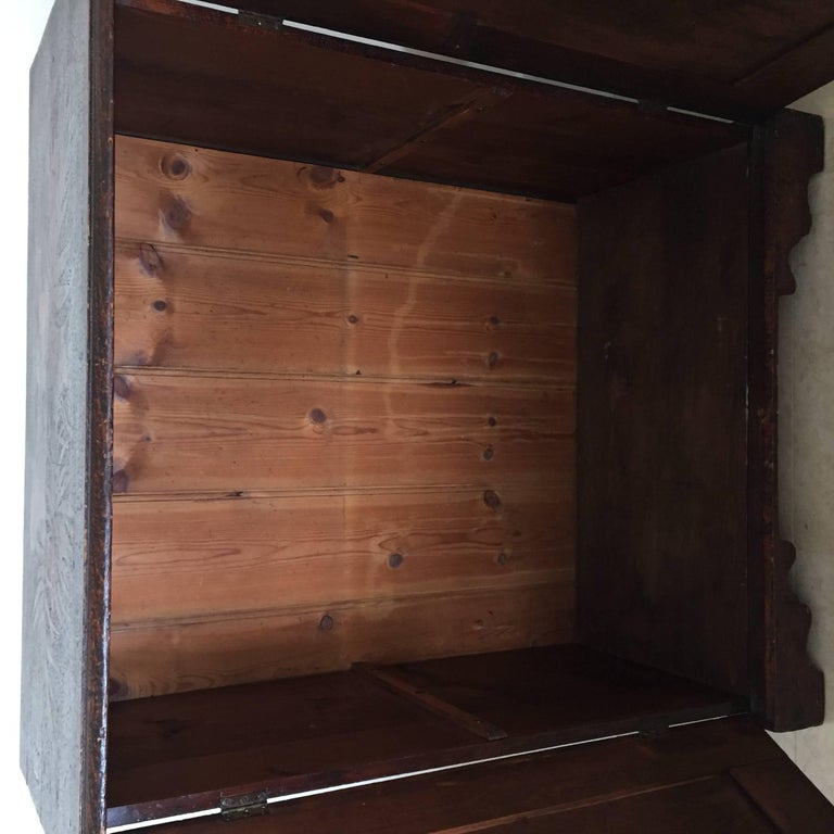 19th Century Arts & Crafts Poker Cabinet For Sale 2