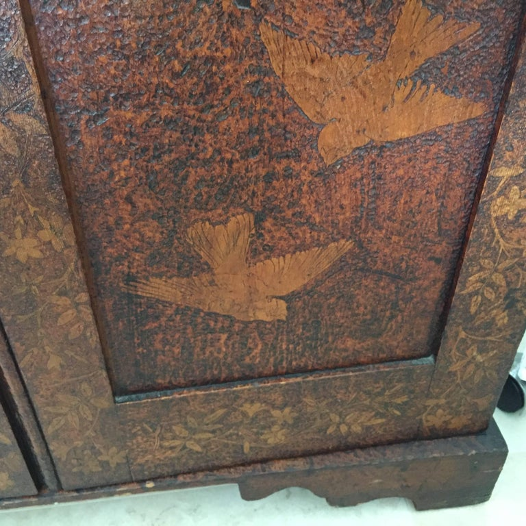 19th Century Arts & Crafts Poker Cabinet For Sale 4