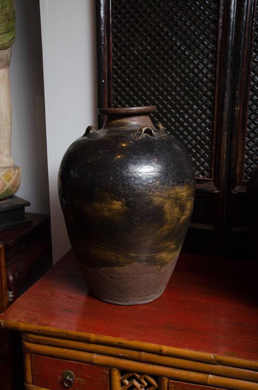 Early 18th Century Thai Glazed Terra Cotta Water Vessel 2