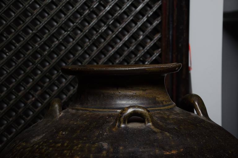 Early 18th Century Thai Glazed Terra Cotta Water Vessel 5