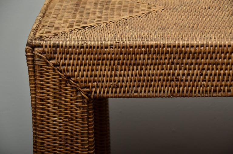 Wicker Console At 1stdibs