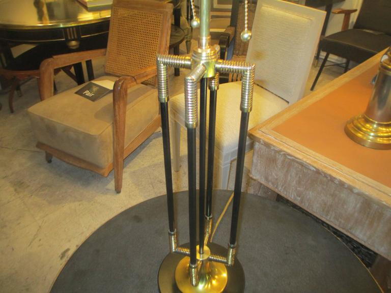 Unusual Pair of Brass and Iron Table Lamps 3