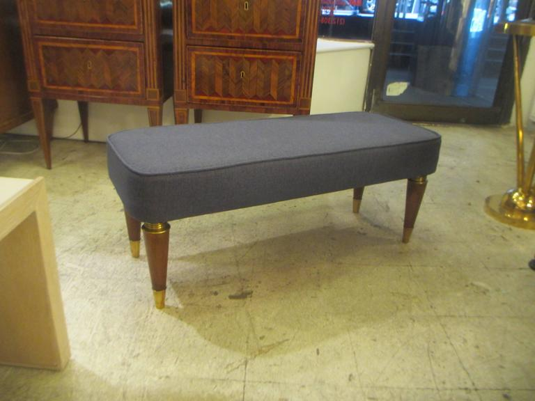 Pair of Italian Mid-Century Modern Upholstered Benches 2