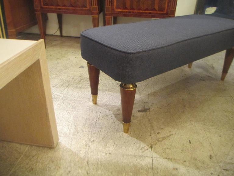 Pair of Italian Mid-Century Modern Upholstered Benches 4