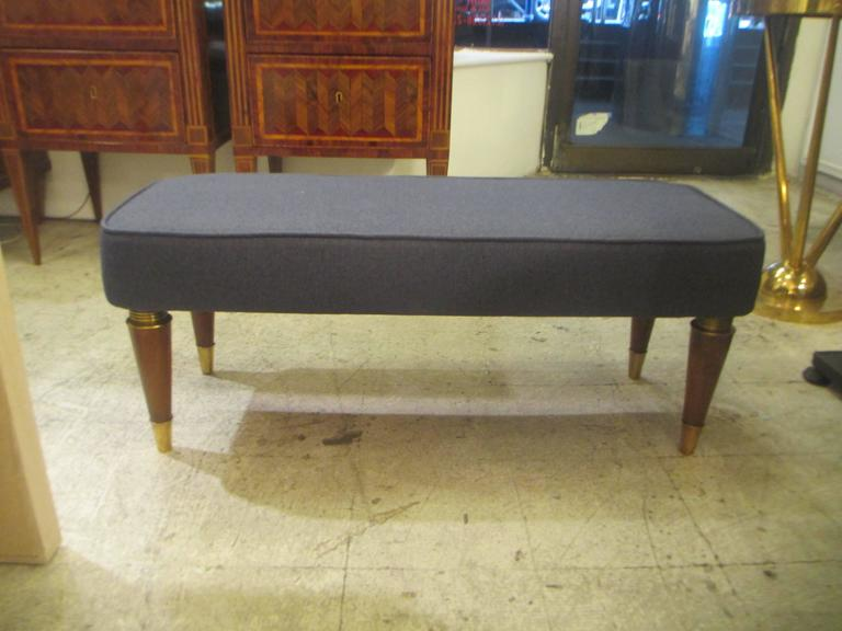 Pair of Italian Mid-Century Modern Upholstered Benches 3