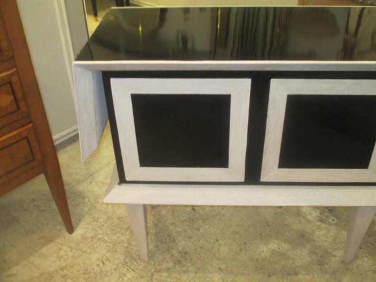 Modern Ebonized and Cerused Oak Cabinet 5