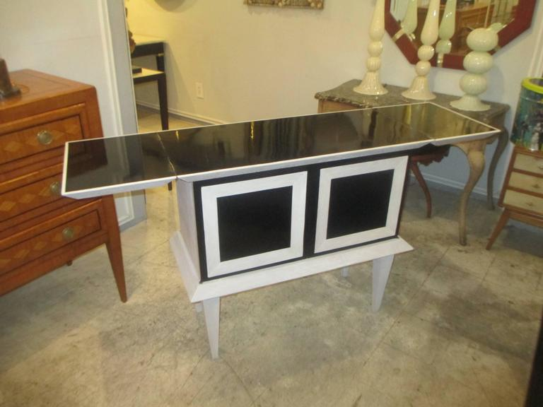 Modern Ebonized and Cerused Oak Cabinet 3