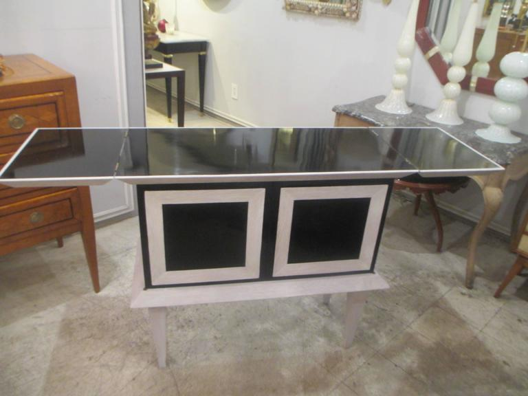 Modern Ebonized and Cerused Oak Cabinet 4