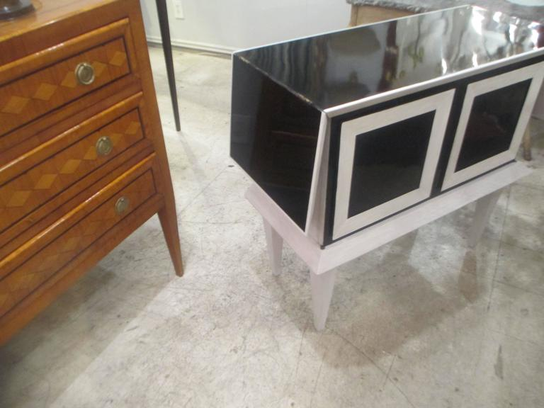 Modern Ebonized and Cerused Oak Cabinet 7