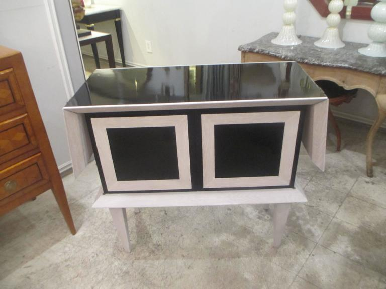 Modern Ebonized and Cerused Oak Cabinet 2