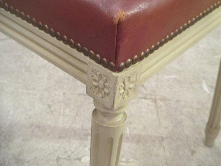 20th Century Set of Four Louis XVI Style Chairs, Attributed to Maison Jansen For Sale