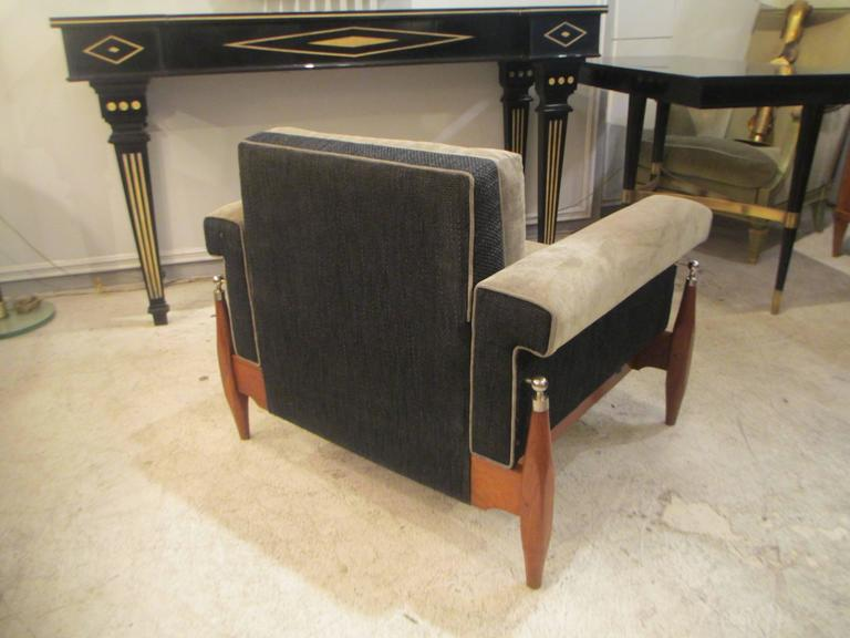 Unusual Pair of Sculptural Mid-Century Modern Armchairs 6