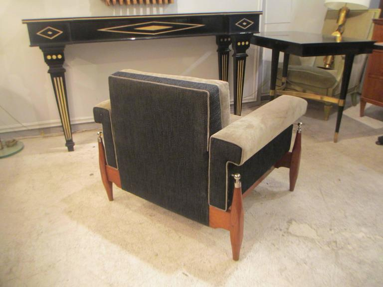 Unusual Pair of Sculptural Mid-Century Modern Armchairs 4