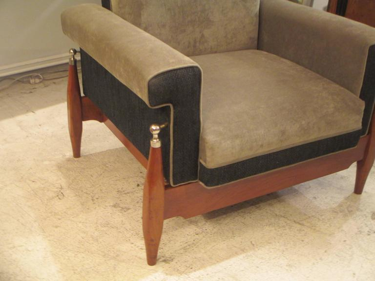 Unusual Pair of Sculptural Mid-Century Modern Armchairs 3