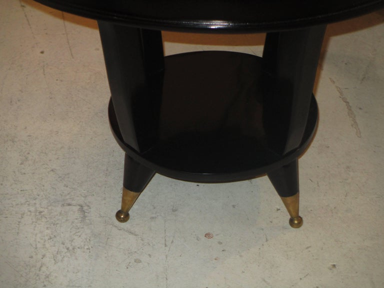 20th Century Mid-Century Modern Ebonized Cocktail Table For Sale