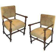 Pair of Armchairs from a Noted Parzinger Commission