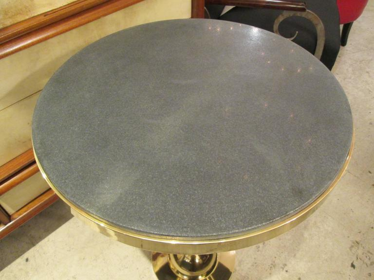 Pair of Sculptural French 1970s Bronze Tables with Marble Tops 3