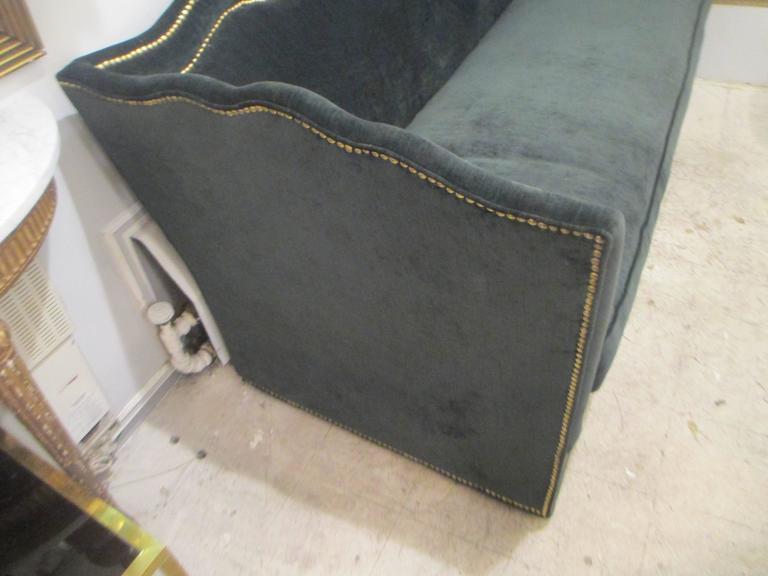 Moorish Vintage Baker Silk Velvet-Upholstered Sofa For Sale