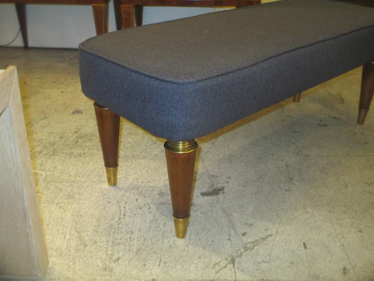 Pair of Italian Mid-Century Modern Upholstered Benches 5