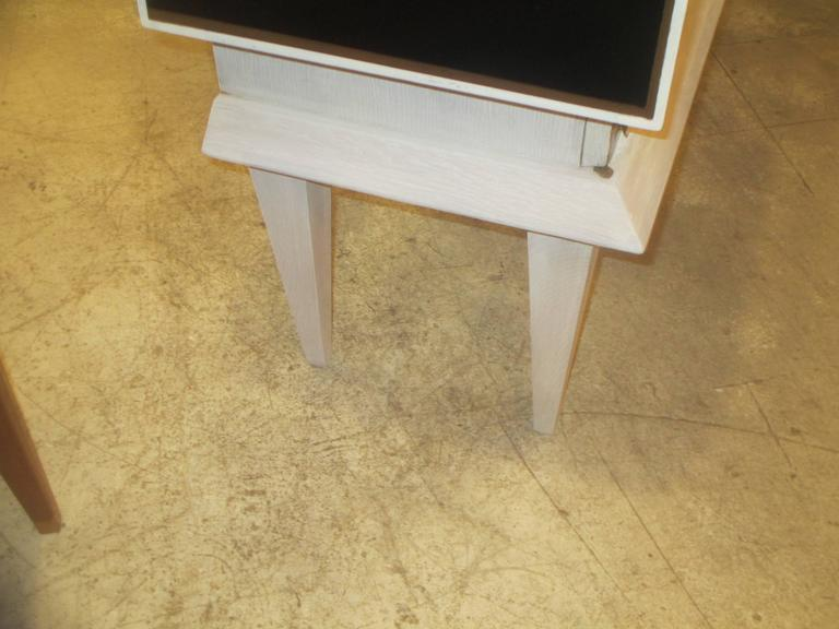 Modern Ebonized and Cerused Oak Cabinet 9