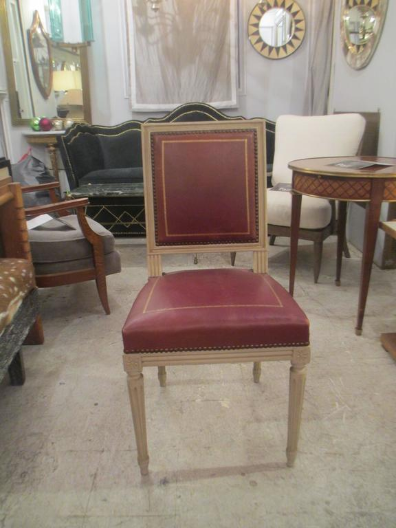 French Set of Four Louis XVI Style Chairs, Attributed to Maison Jansen For Sale