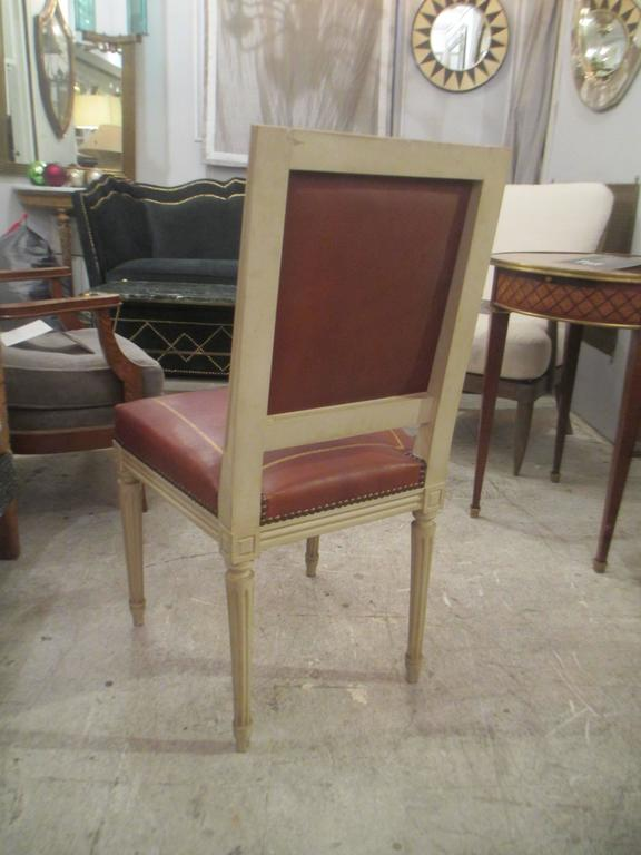 Painted Set of Four Louis XVI Style Chairs, Attributed to Maison Jansen For Sale