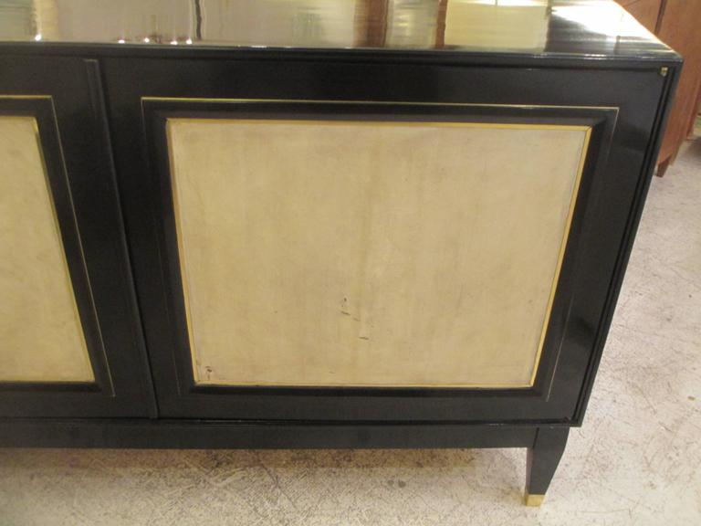 Pair of French Bronze-Inlaid Ebonized Parchment Cabinets 4