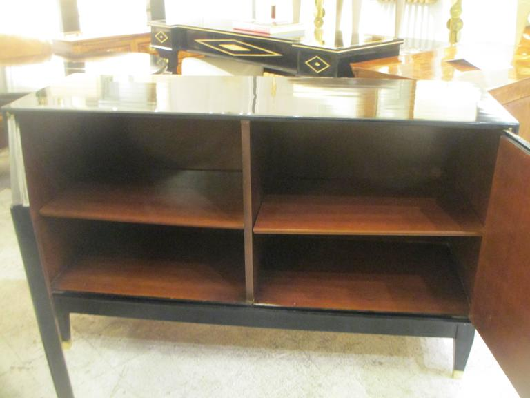 Pair of French Bronze-Inlaid Ebonized Parchment Cabinets 6