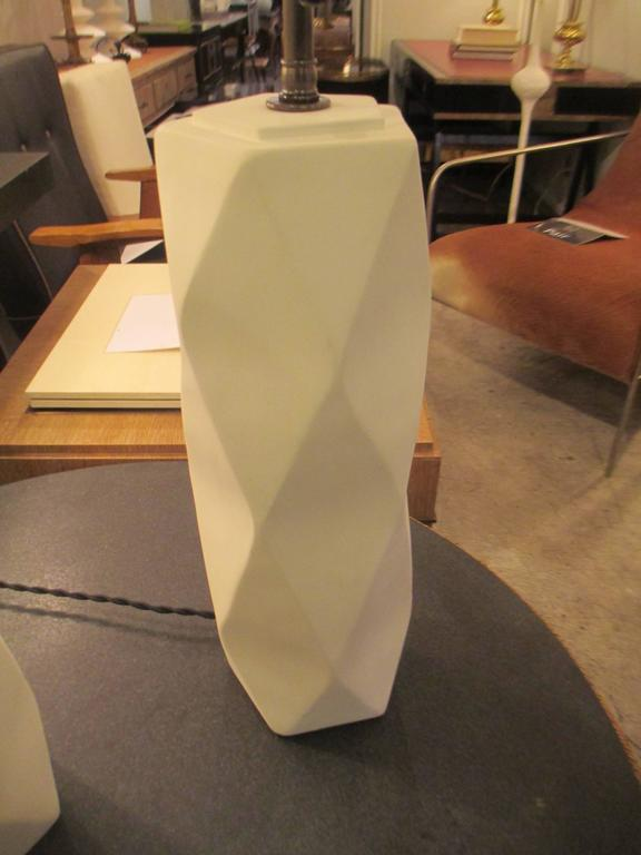 Pair of Cubist Inspired Plaster Lamps 3