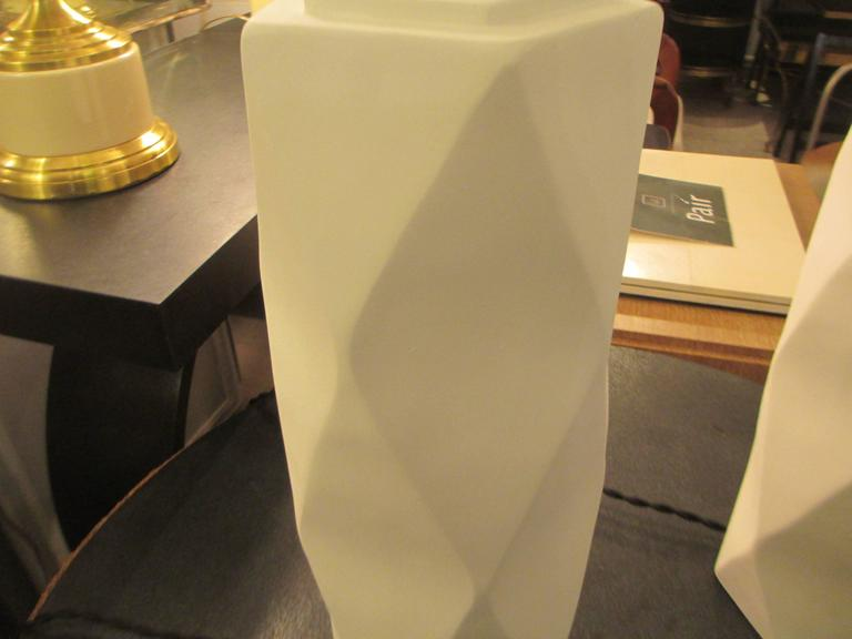Pair of Cubist Inspired Plaster Lamps 6