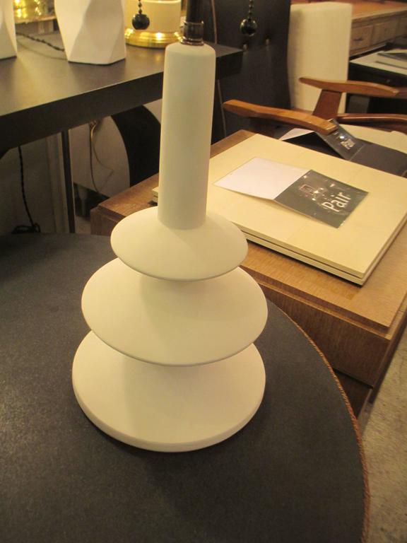 Custom Pair of French Plaster Lamps in the Manner of Alberto Giacometti 3
