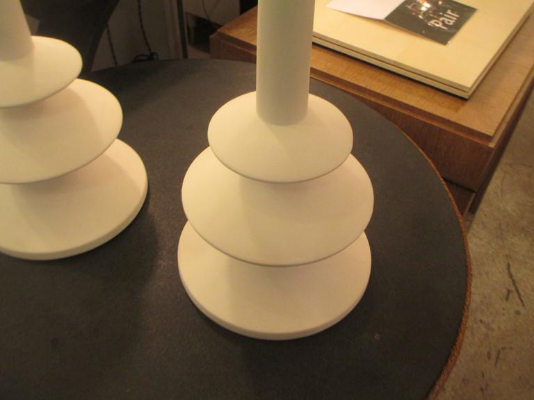 Contemporary Custom Pair of French Plaster Lamps in the Manner of Alberto Giacometti For Sale