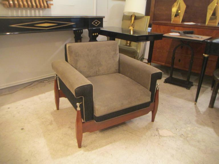 Unusual Pair of Sculptural Mid-Century Modern Armchairs 2