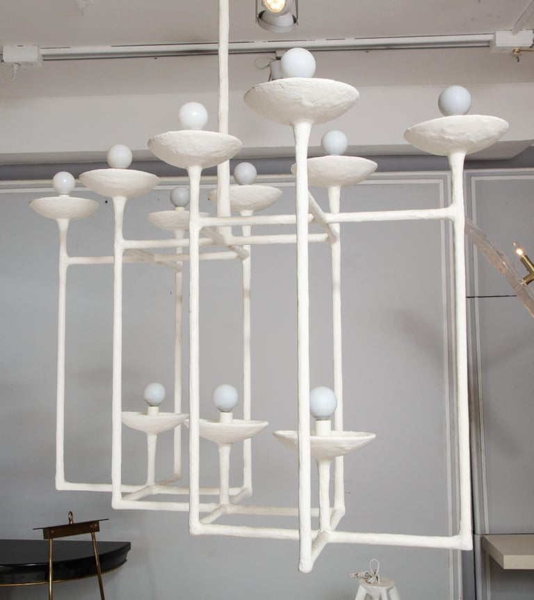 American Plaster Fixture in the Manner of Giacometti For Sale