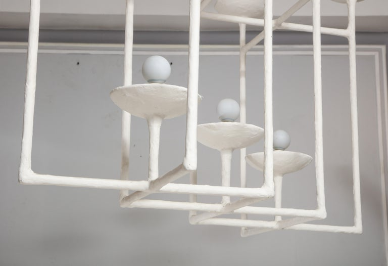 Plaster Fixture in the Manner of Giacometti For Sale 7