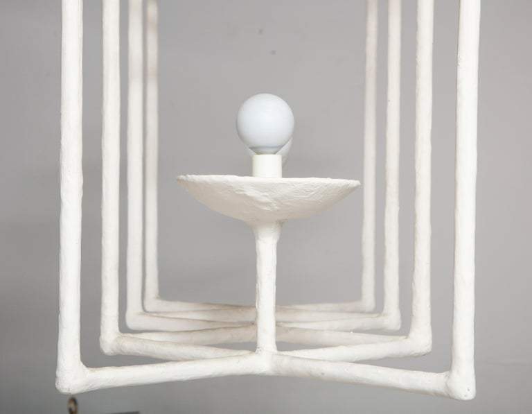 Plaster Fixture in the Manner of Giacometti For Sale 9