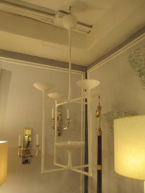 Contemporary Custom Plaster Fixture in the Giacometti Manner For Sale