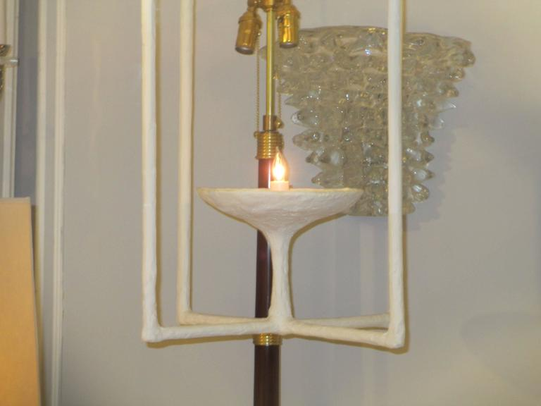 Custom Plaster Fixture in the Giacometti Manner In Excellent Condition For Sale In New York, NY