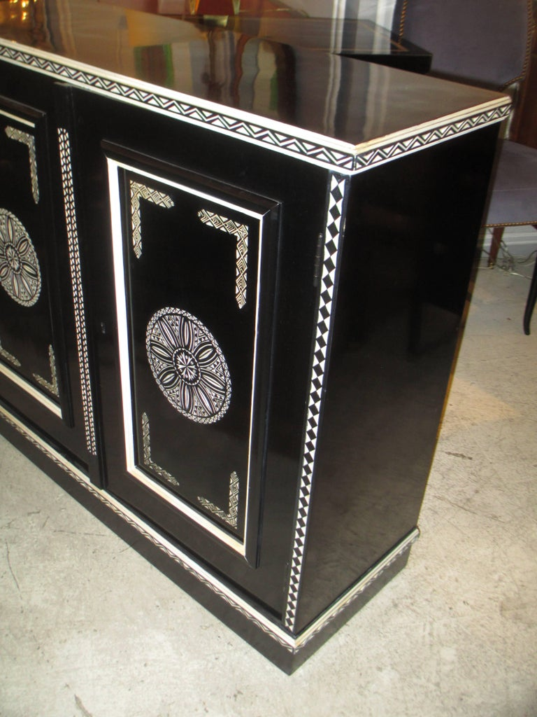 20th Century Hand-Decorated Cabinet in the Anglo-Indian Manner For Sale