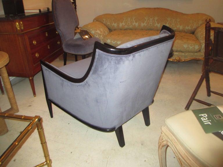 Pair of Mid-Century Modern Ebonized Armchairs 4
