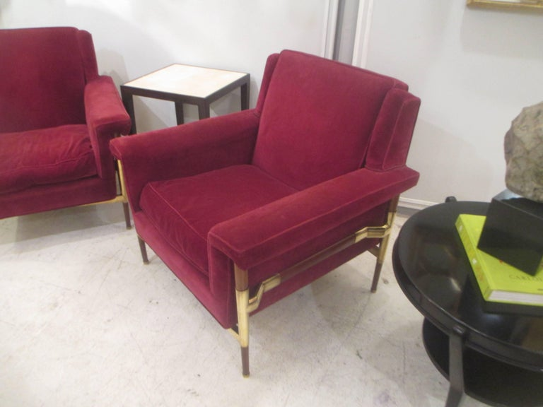 Unusual Pair of Italian Midcentury Lounge Chairs For Sale 3