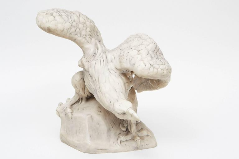 This impressively large and animated eagle is a great piece of early Royal Dux Bohemia Porcelain with a pink triangle mark indicating it was made prior to 1918.