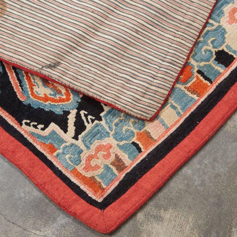 Antique Tibetan Wool Saddle Blanket For Sale At 1stdibs