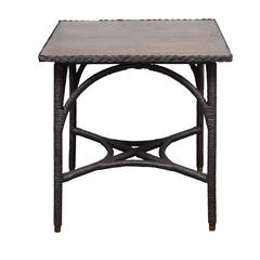 Painted Oak Top Lloyd Loom Table