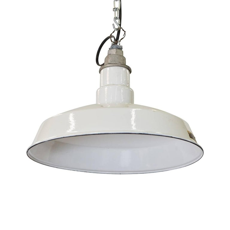 Enameled Metal Hanging Lamps
