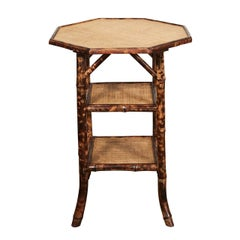 Octagonal English Victorian Bamboo Table