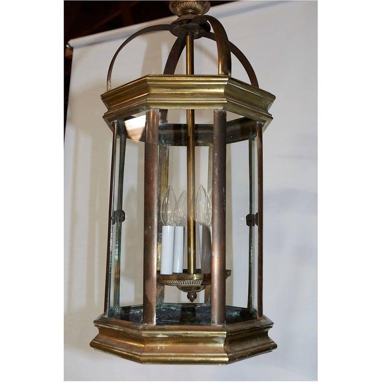Pair Of English Lantern Hanging Lamps For Sale At 1stdibs